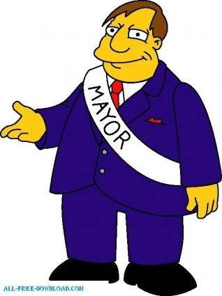 free vector Mayor Quimby 01 The Simpsons