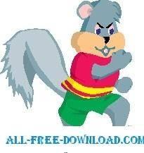 free vector Squirrel Running