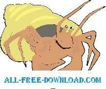 free vector Hermit Crab Happy
