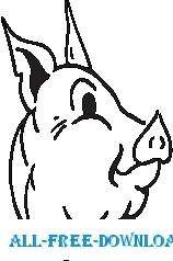 free vector Pig 22