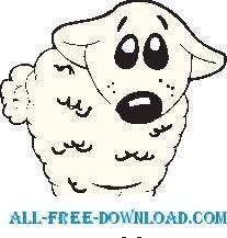 free vector Sheep 08