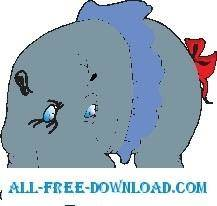 free vector Hippo Wearing Skirt