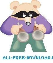 free vector Raccoon with Goggles