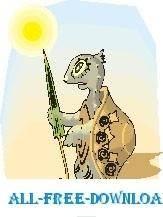 free vector Tortoise in Desert