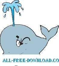 free vector Whale 17