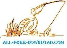 free vector Pelican Fishing 4