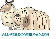 free vector Sheep and Dog
