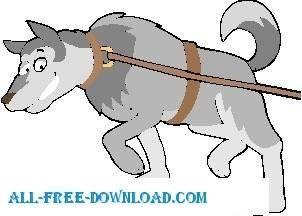 free vector Husky