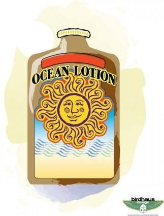 free vector Sun Tan Lotion Bottle