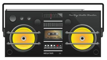 free vector Ghetto Blaster