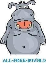 free vector Hippo 09