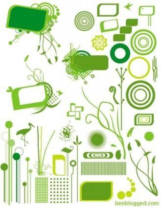 free vector Organic Design Elements