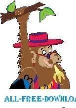 free vector Monkey Hanging on Tree 4