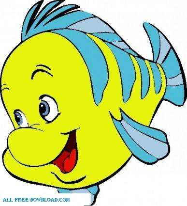 free vector Little Mermaid Flounder 001