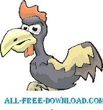 free vector Rooster Mean