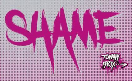 free vector SHAME - design Tommy Brix