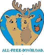 free vector Moose in Love