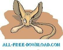 free vector Jerboa Big Ears
