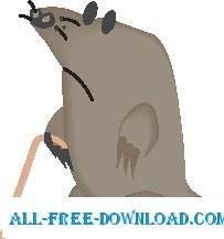 free vector Mole 1