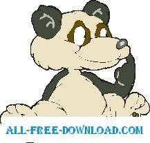 free vector Panda Sitting