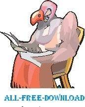 free vector Vulture Grandpa