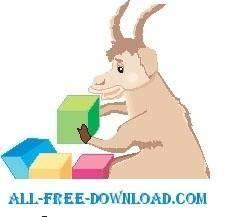 Goat with Blocks