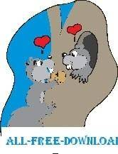 free vector Squirrels in Love