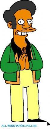free vector Apu Nahasapeemapetilon 01 The Simpsons