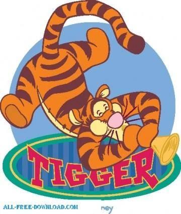 free vector Winnie the Pooh Tigg 013