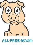 free vector Pig 07