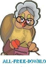 free vector Owl Granny