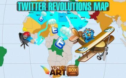 free vector Twitter Revolutions Map