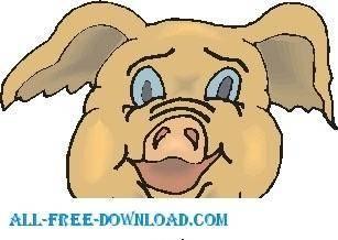 free vector Pig Happy 2