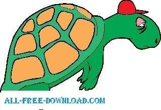 free vector Turtle Tired