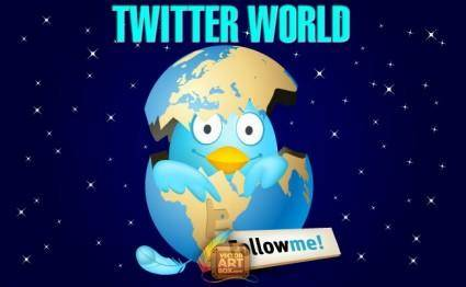free vector Twitter World
