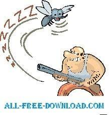 free vector Mosquito In Trouble
