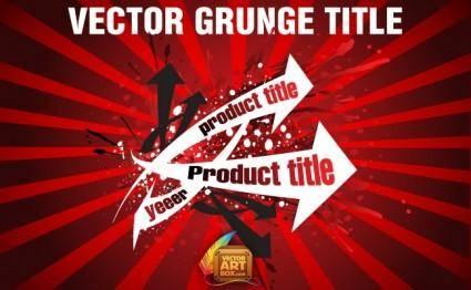Vector Grunge Title