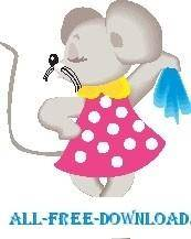 free vector Mouse Wearing Dress 2