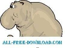 free vector Seal Elephant