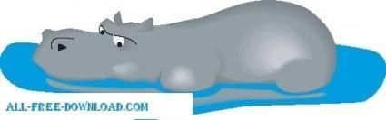 free vector Hippo 04