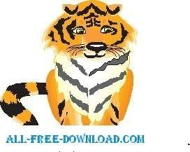 free vector Tiger with Mouse
