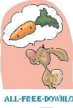 free vector Rabbit Dreaming of Carrot