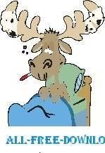 free vector Moose Sick