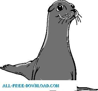 free vector Sea Lion