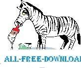 free vector Zebra Painting