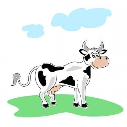 free vector Illustration of cow