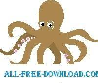 free vector Octopus 05