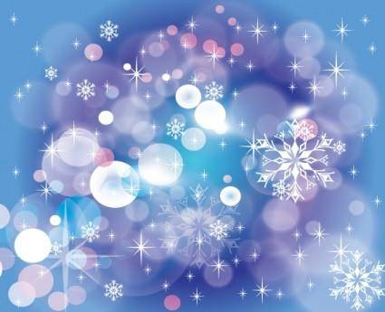Winter Blue Dark design Vector Back