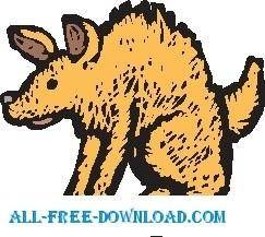 free vector Hyena
