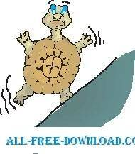 free vector Tortoise Off Balance